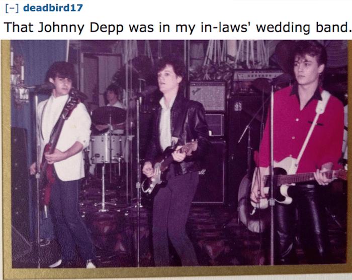 Johnny Depp Wedding Band