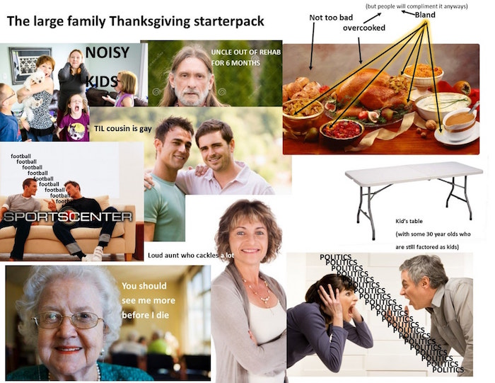 Large Family Thanksgiving