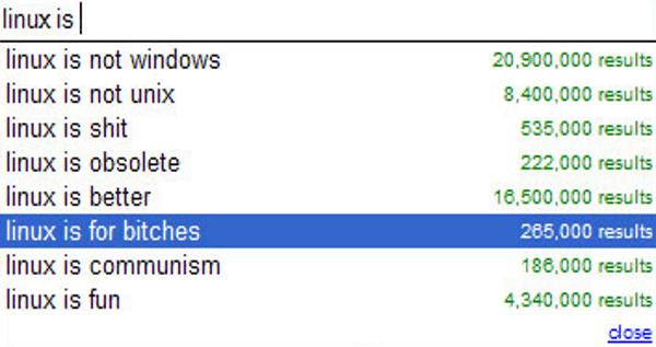 Weird Google Autocompletes