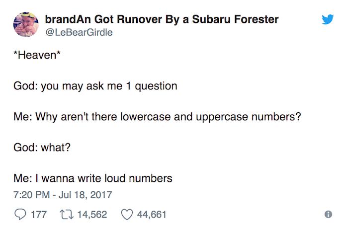 Loud Numbers