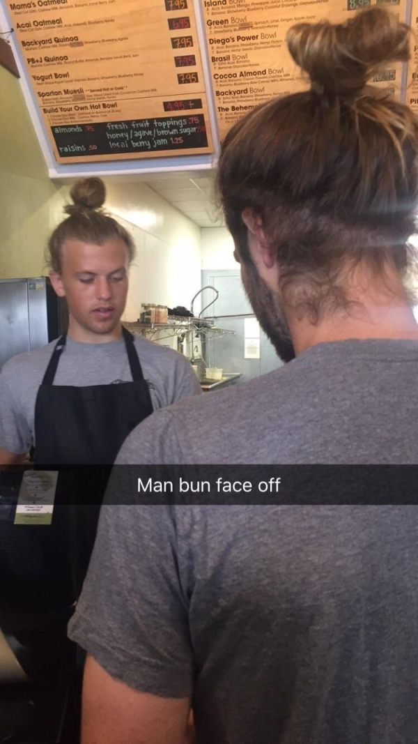 Man Bun Faceoff
