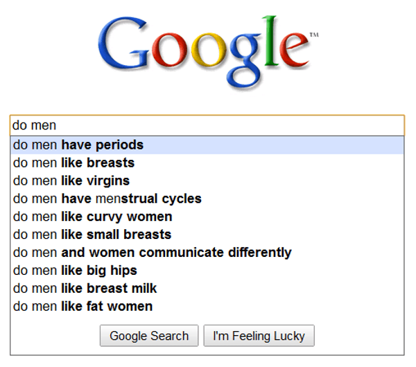 Ridiculous Search Suggestions For Men
