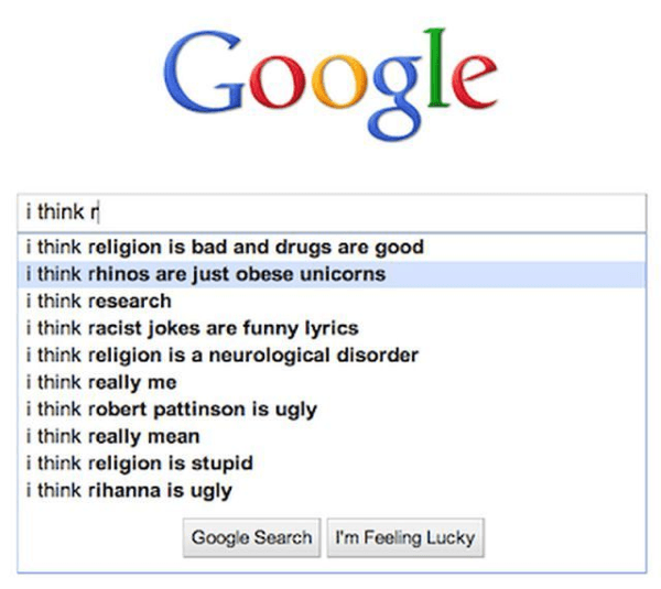 Hilariously Weird Google Search Autocompletes