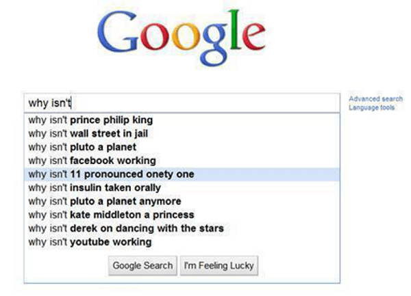 Funny Google Autocomplete Results