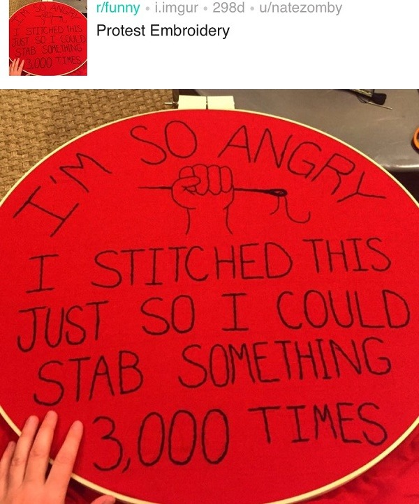 Protest Embroidery