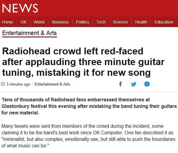 Radiohead Headline