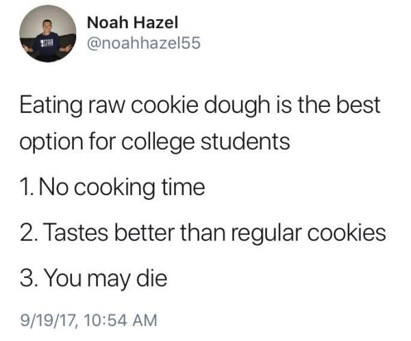 Raw Cookie Dough Funny Depressing Memes