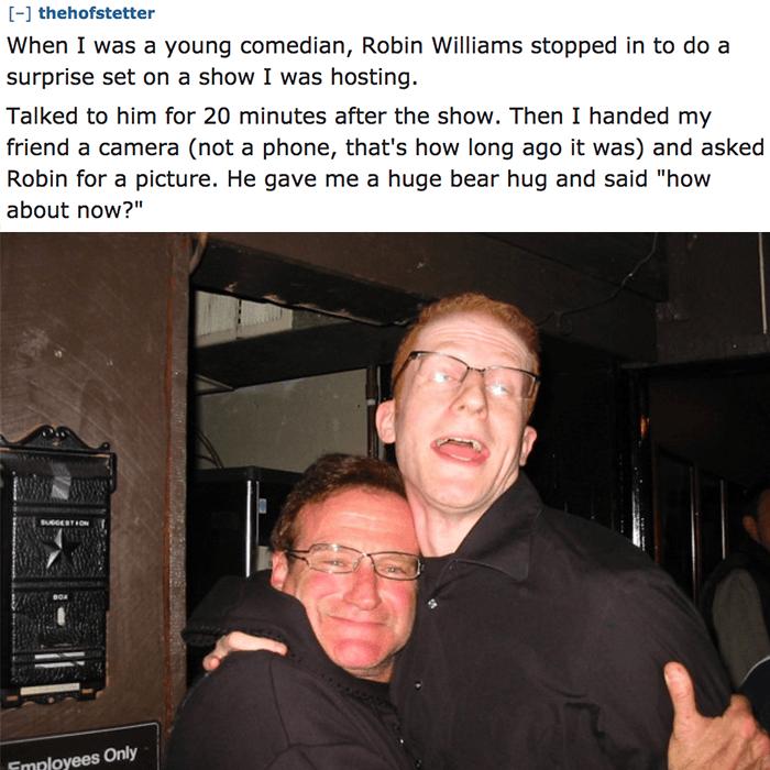 Robin Williams Hug