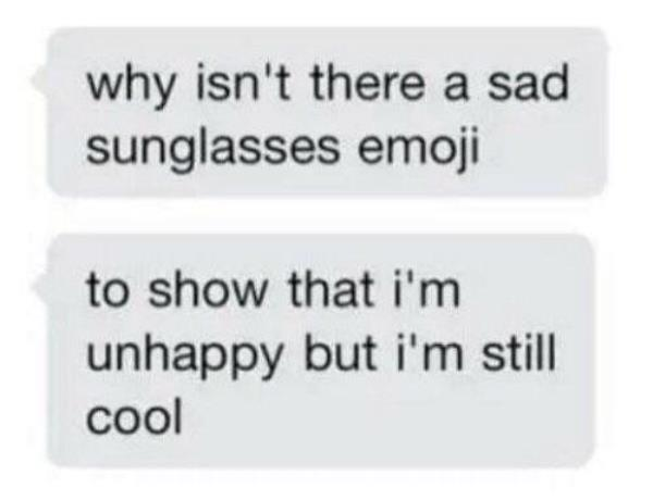 Sad Sunglasses Emoji
