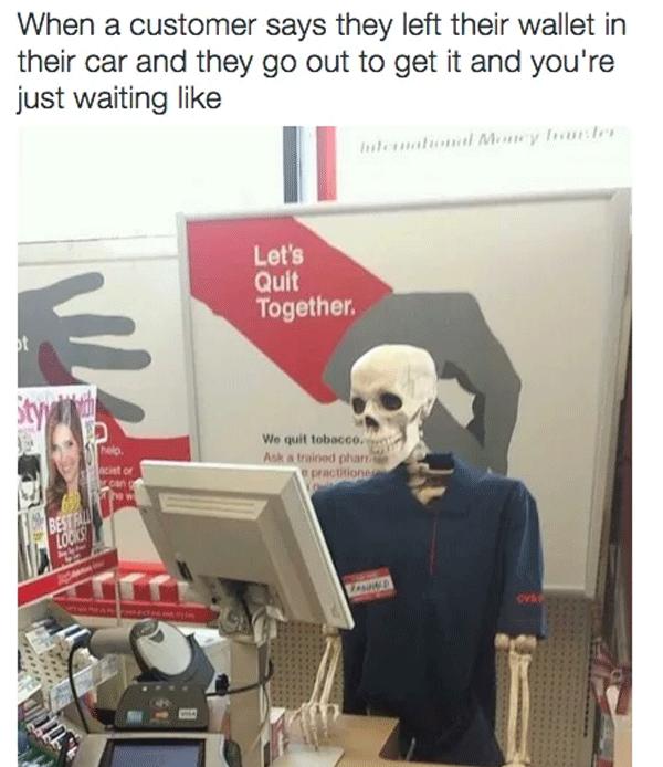 Skeleton Employee