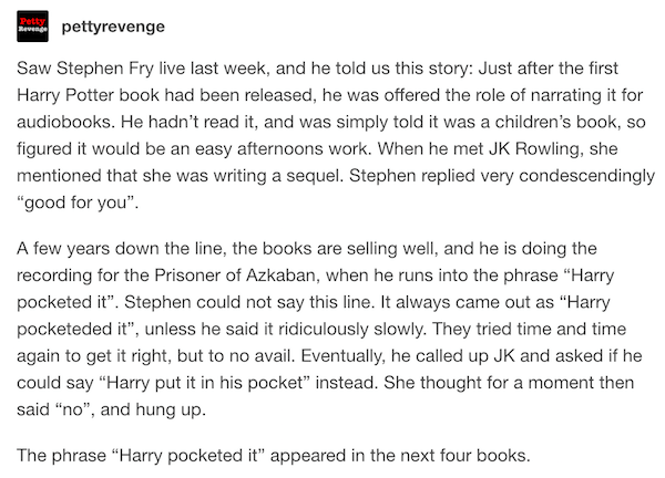 Stephen Fry Harry Potter
