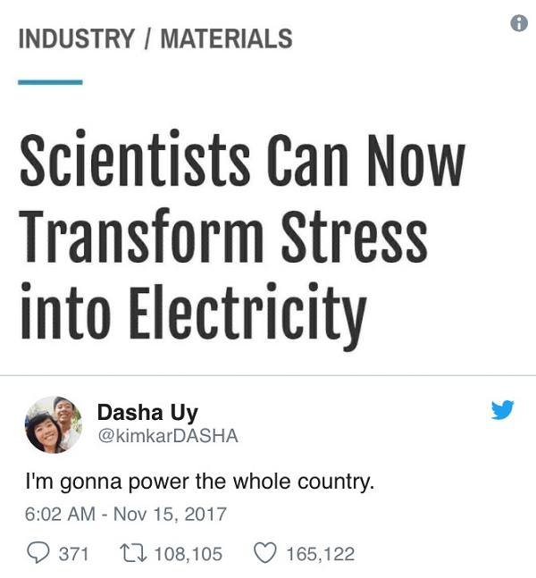 Stress Into Electricity