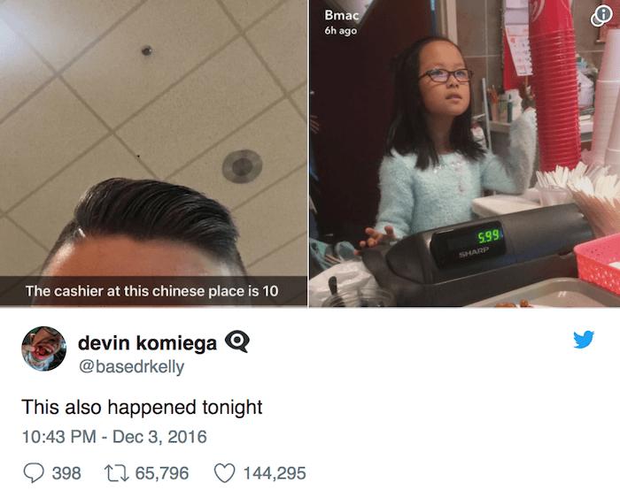 Teen Tweets Kid Cashier