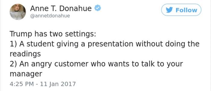 Trump's Settings