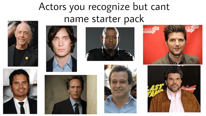 Unrecognizeable Actors