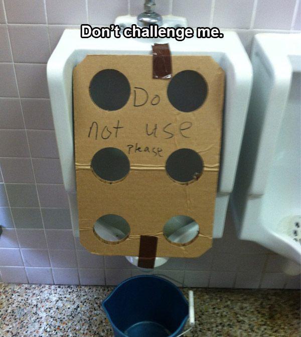 Urinal Holes
