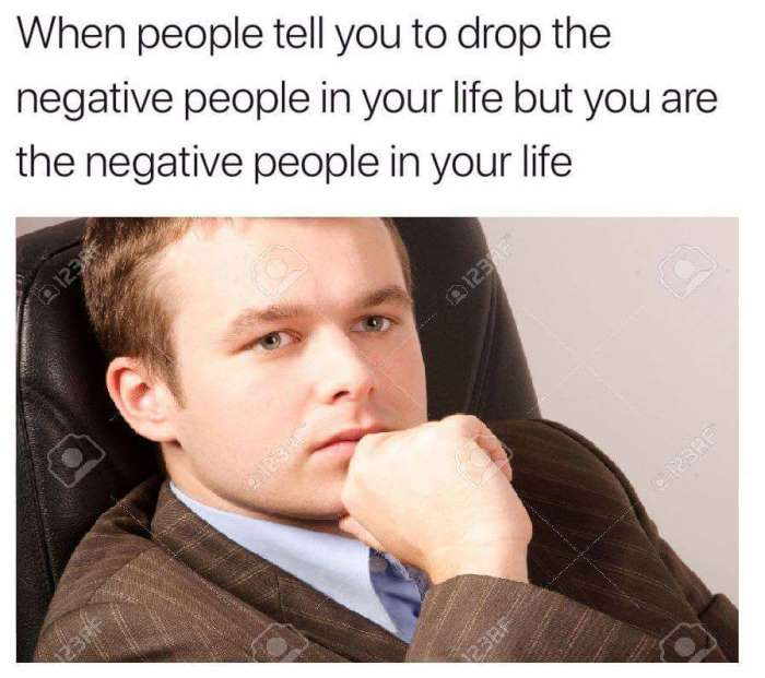 You Are The Negative People